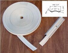 """Vinyl Insert Molding Trim Screw Cover RV Boat Camper Travel Trailer 1"""" White 75'"""