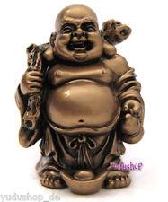 dickbauchige  Buddha Geldsack, Happy Buddha,Kupferoptik