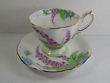 Royal Albert Tea Cup and Saucer. Foxglove Flower Design. 1930's