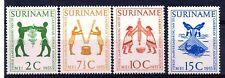Suriname (1843) 1955 4th Caribbean Tourist Assn Meeting set Unmounted Sg430-33