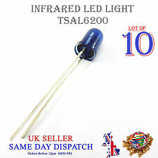 10x 940nm Infrared LED Lamp Blue 5mm IR High Power Emitter TSAL6200