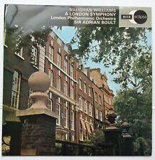 Vaughan Williams Sir Adrian Boult A London Symphony Stereo - Purple labels UK LP