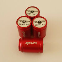 BENTLEY METAL SPORTS Valve Dust caps all Cars 7 COLOURS FAST UK DISPATCH RED