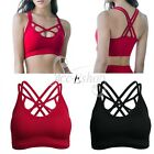 Women Seamless Padded Gym Sports Bra Fitness Yoga Crop Top Bralette Tank Jogging