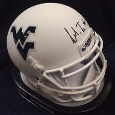 Shelton Gibson West Virginia Mountaineers Signed WVU White Mini Helmet JSA