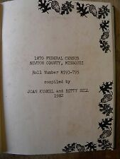 TOWN HISTORY BOOK GENEALOGY NEWTON COUNTY MO CENSUS NEOSHO MISSOURI NEWTONIA OLD