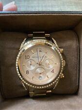Genuine Authentic Michael Kors Ladies Blair Rose Gold Chronograph Watch MK5263