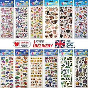 Fun Stickers Children Birthday Party Loot Bag Fillers Kids Decorating Pack B