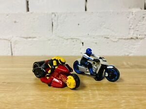Caffiend Thunder Cycles 2004 Red Yellow Mad Maniax 2011 White Blue Hot Wheels