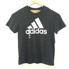 Adidas Ess Linear Xl Short Sleeve Crew Neck T Shirt Black New $25