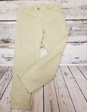 Lacoste Mens Dress Pants Sz 46 EU, Sz 36 US Khaki Beige Flat Front Cotton Golf