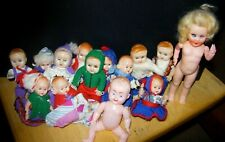 VINTAGE COLLECTION 14 SMALL MINIATURE PLASTIC HONG KONG EMPIRE MADE BABY DOLLS