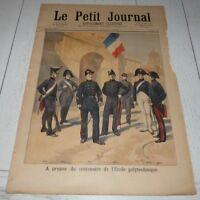 PETIT JOURNAL 1894 CENTENAIRE POLYTECHNIQUE / MEHARISTES / BICYCLETTE DECAUVILLE