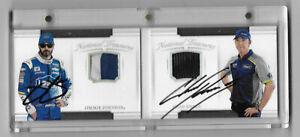 2017 National Treasures Dual Signature Materials Booklet SILVER Johnson Knaus 8/