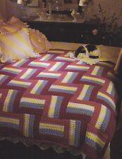Crochet Pattern ~ FANCY FENCING Afghan ~ Instructions