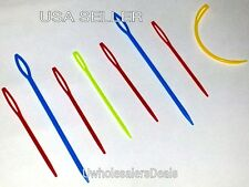 Plastic Needles Knitting Yarn Darning Stitching 8 pcs Set NEW in Pack