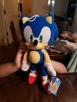 """Sega Sonic The Hedgehog Stuffed Plush Character Toy 12"""" Authentic! FREE SHIPPING"""