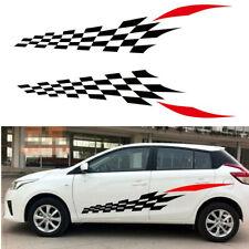 2x Diy Racing Car Auto Side Body Graphics Vinyl Decal Lattice Sticker Waterproof