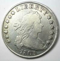 1803 Draped Bust Silver Dollar $1 - Fine Details - Rare Date Coin!