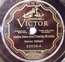 Vernon Dalhart 78 RPM Record Kitty Wells & Nellie Dare Charley Brooks 1926