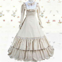 Victorian Lolita Civil War Evening Gothic Lolita Dress Cosplay Costume Halloween