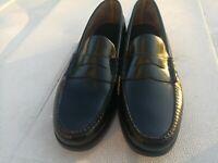 G.H. Bass Walton Penny Loafers Men Shoes Black Leather Casual Dress Shoe 11.5M