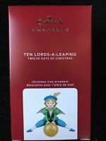 Hallmark 2020 Ten Lords-a-Leaping ornament 12 Days of Christmas -Mint in Box !
