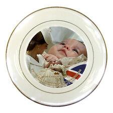 Princess Charlotte Portrait Royal Baby Baptism Porcelain Plate /Will & Kate 2015