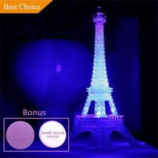 Night Light 10 Inch Eiffel Tower Desk Bedroom Led Lamp Paris Fashion Decoration