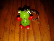 Cute Wooden Frog Key ring