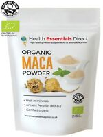 Organic Raw Maca Powder 500g (Premium 4 Root, Peruvian Superfood)