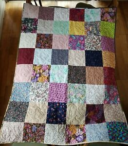 "Handmade Quilt Throw Blanket 58.5"" X 43.5"" NEW EXCELLENT"