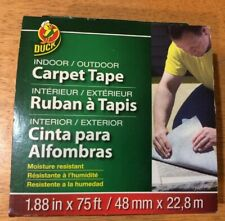 New listing Duck Brand Indoor/Outdoor Fiberglass Double-Sided Carpet Tape: 1.88 in. x 75ft