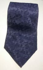STAFFORD SOLID TEXTURED MIDNIGHT BLUE MENS SILK NECK TIE USA EUC