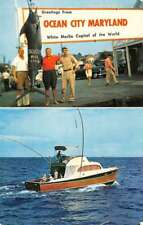 Ocean City Maryland Marlin Catch Motor Boat Multiview Vintage Postcard K76707