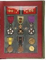 Belgium Prisoner of War WWII Cap.Comm. Emile J.J. Disteque Medals &COA Portfol.