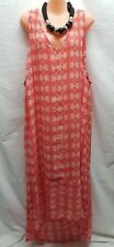 AUTOGRAPH SIZE 22 LONG  V NECKLINE WATERMELON DRESS CASUAL/SUMMER CRUISING