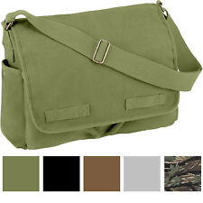 Vintage Canvas Messenger Bag Heavyweight Military Shoulder School Satchel Sling
