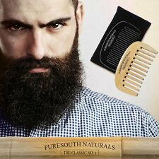 My Best Beard and Mustache Wide Tooth Bamboo Comb Anti-static Wooden Pocket Comb