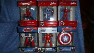 NIP Marvel Avengers  Christmas Ornament  Ironman Captn America Spiderman U Chose