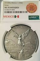 2018 MEXICO SILVER LIBERTAD 1 ONZA NGC MS 70 ANTIQUED BEAUTIFUL PERFECTION
