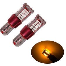 2X T10 Yellow Light CANBUS ERROR FREE 501 194 W5W 3014 57SMD Car LED Light Bulbs