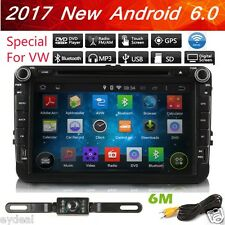 """Android 6.0 8""""Car Stereo DVD Player GPS For VW Jetta Passat Caddy Tiguan EOS+CAM"""