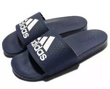 New ADIDAS MENS 18 Adilette CF+C AQ3116 Navy Blue White Slides Sandals Slippers