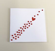 Single Red Heart Mini Anniversary Card (3x3)