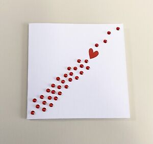 Single Red Heart Mini Anniversary Card (3x3)