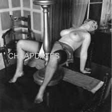 CD151-0072 VINTAGE B/W 8X10 CLASSIC 1960'S ART POSED NUDE BUSTY JERRY HEPBURN