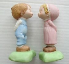 Orig Box-Hallmark Betsey Clark First Kiss Porcelain 2 pc Figurine-Set
