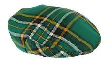 100% Regimental Heavy Weight Scottish Tartan Wool Flat Cap - Irish National