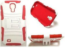Samsung Galaxy S4 / SGH-M919 Phone Cover With Belt Clip Holster sRED/WHITE Case